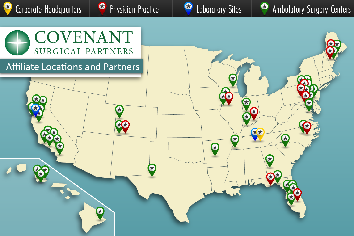 Covenant Surgical Partners - Affiliate and Partner Locations